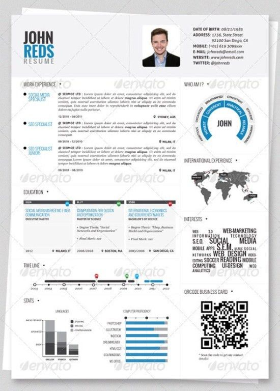 Resume Examples. Cool 10 best sampls of creative resume template ...
