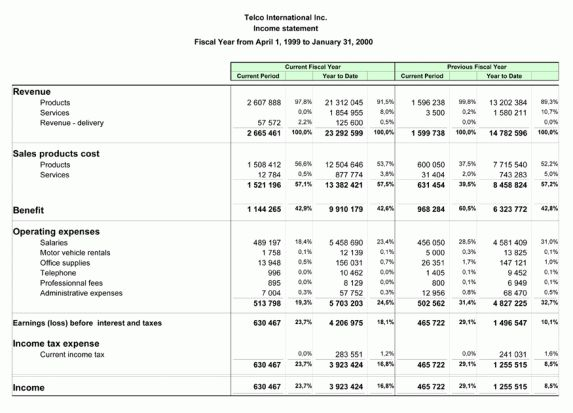 Financial Statement Templates - Find Word Templates