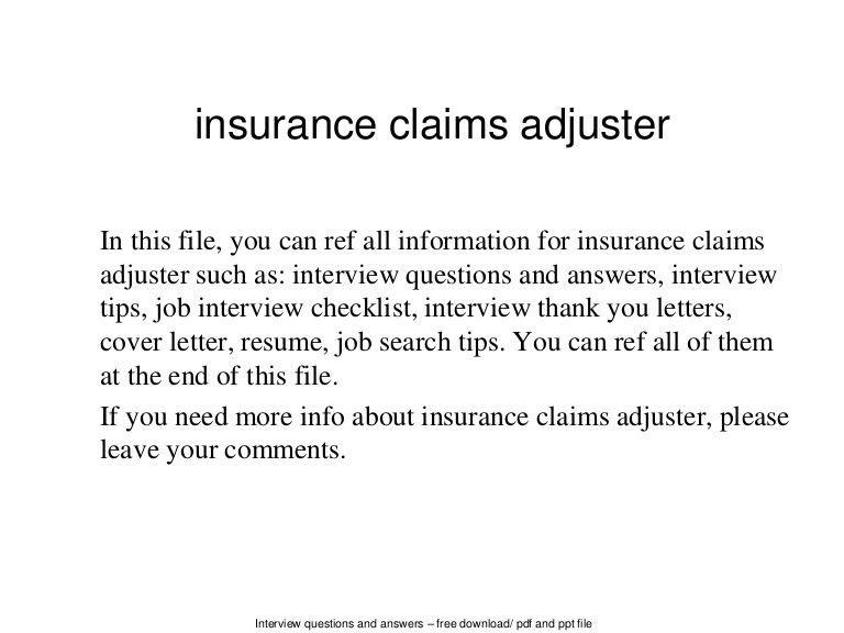 independent property adjuster cover letter general clerk sample ...