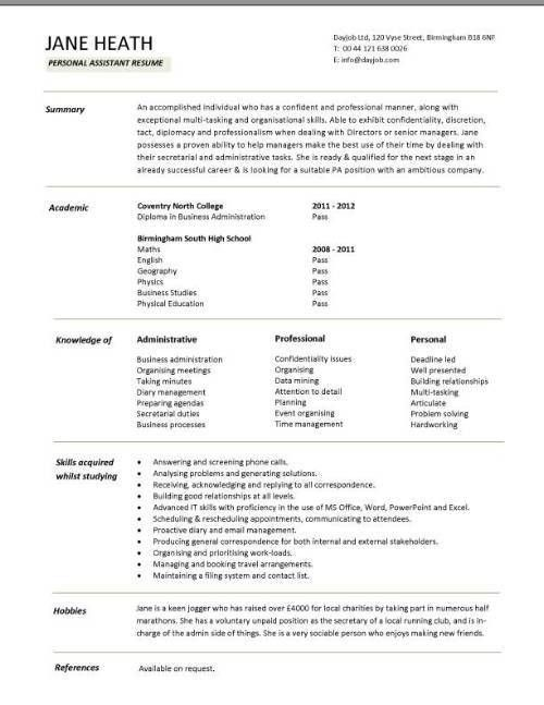 Student Resume Template - CV Resume Ideas