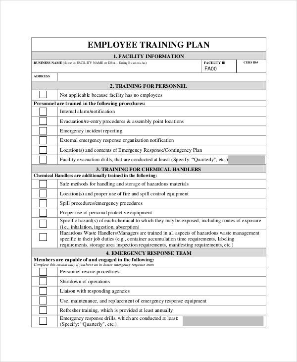 Training Plan - 10+ Free PDF, Word Documents Download | Free ...