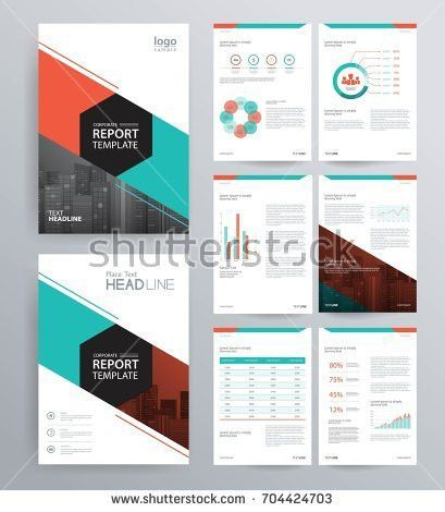 Template Design Company Profile Annual Report Stock Vector ...