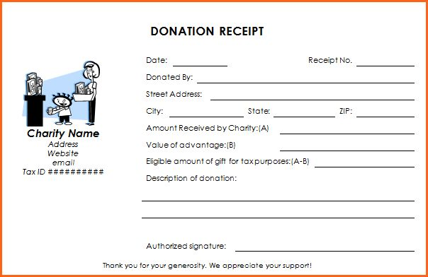 7+ church donation receipt template - Budget Template Letter