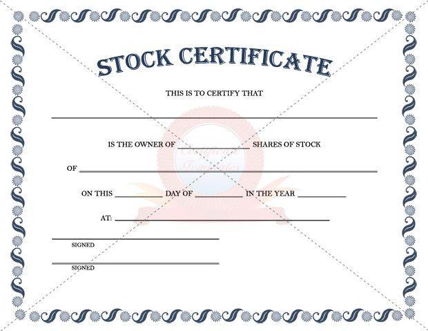 Stock Certificate Template | STOCK CERTIFICATE TEMPLATES .