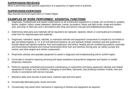 Heavy Equipment Mechanic Resume Resume, Heavy Equipment Mechanic ...