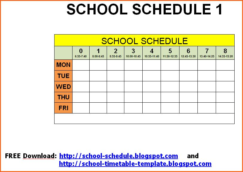 8 weekly timetable template free download - Budget Template Letter