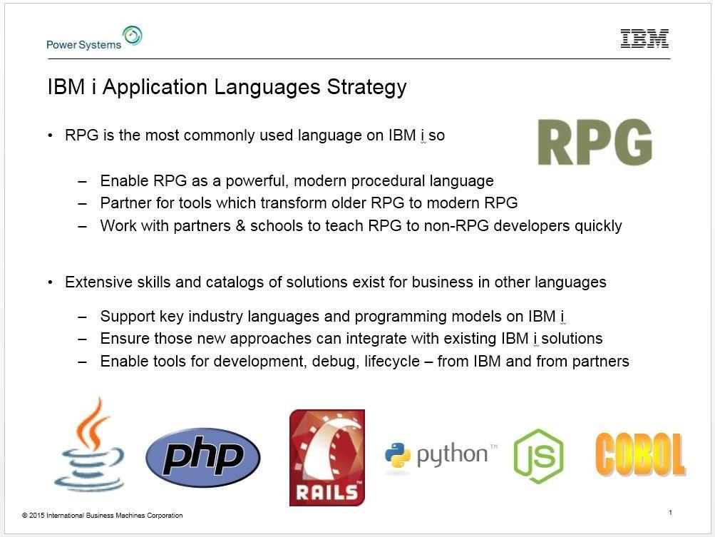 IBM Systems Magazine - RPG and IBM i Programming Languages