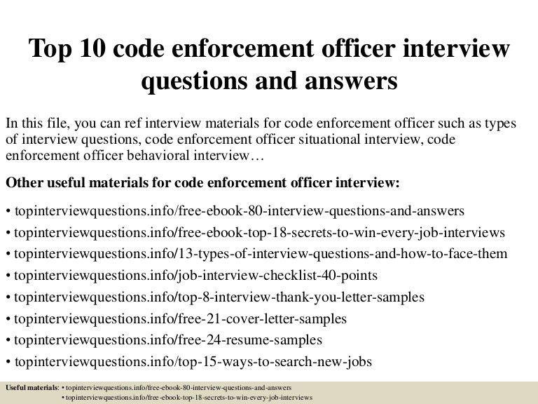 Code Enforcement Officer Sample Resume | love2love.foreignluxury.co