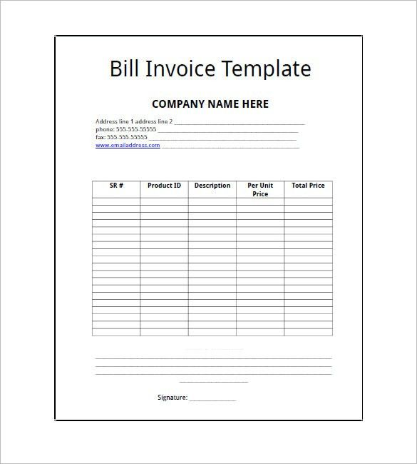 Business Invoice Template – 6+ Free Sample, Example, Format ...