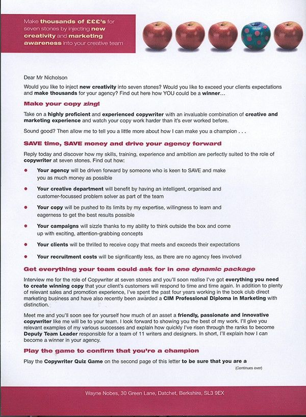 How To Write Cover Letter Examples Killer Cover Letter Example ...