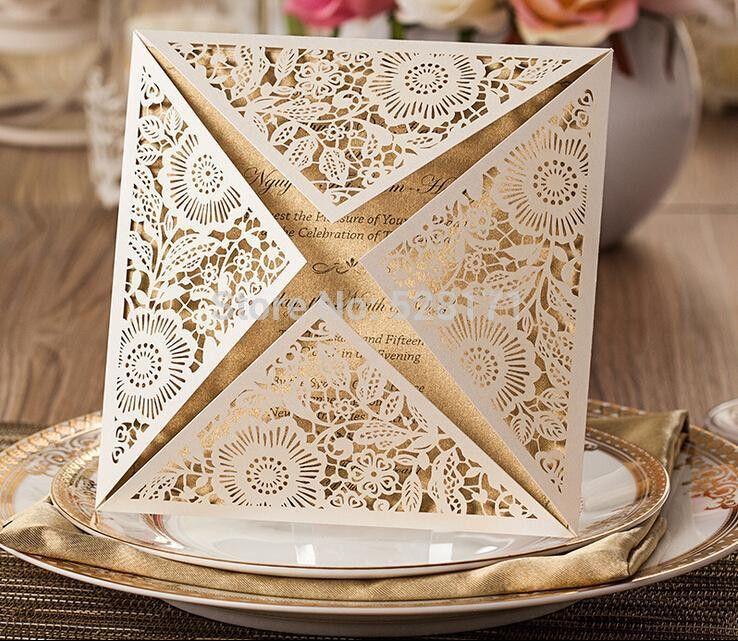 Wholesale White Wedding Invitation Card Sample Engagement ...
