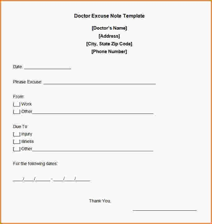 Free Printable Doctor Excuses For Work.Free Doctor Excuse Note ...