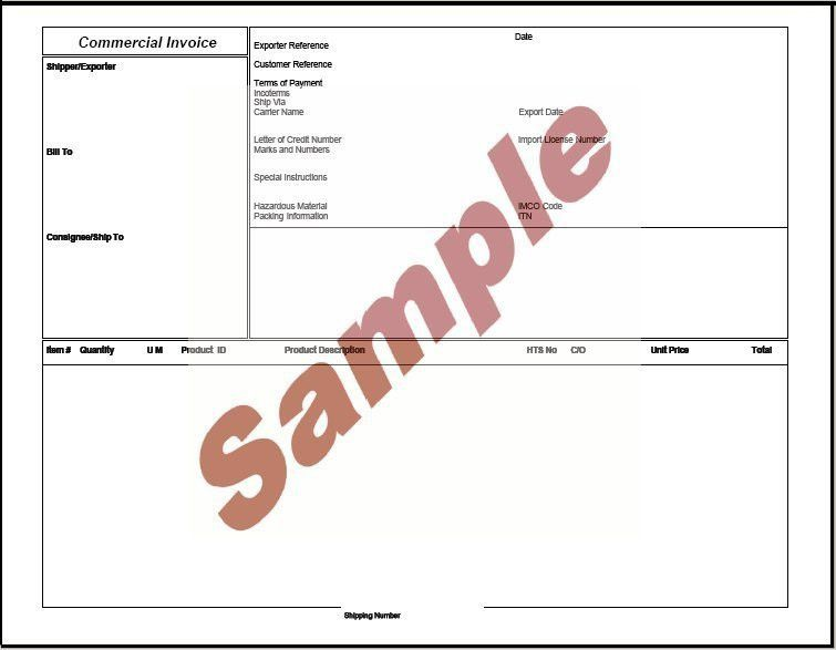 Global Wizard - Commercial Invoice