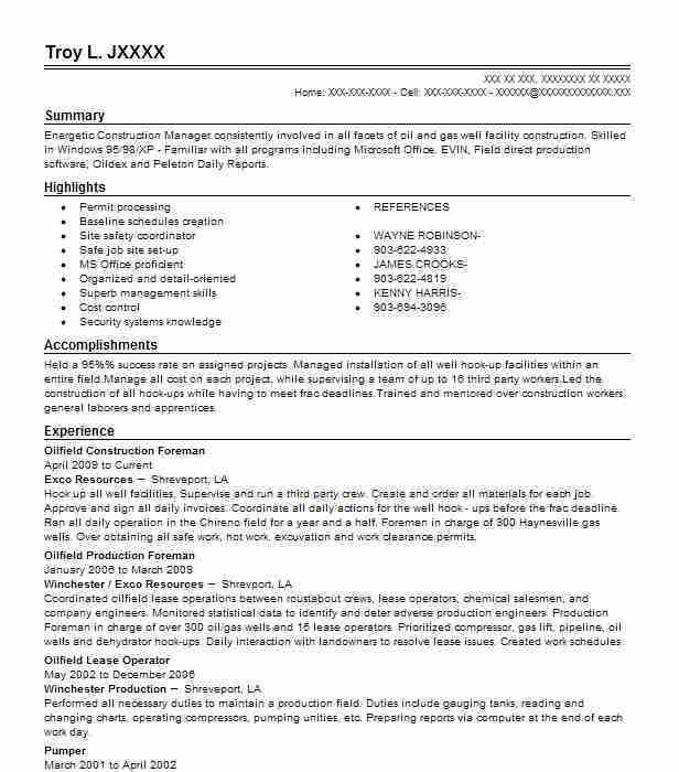11 Amazing Construction Resume Examples | LiveCareer