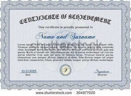 Certificate Diploma Template Vector Pattern That Stock Vector ...