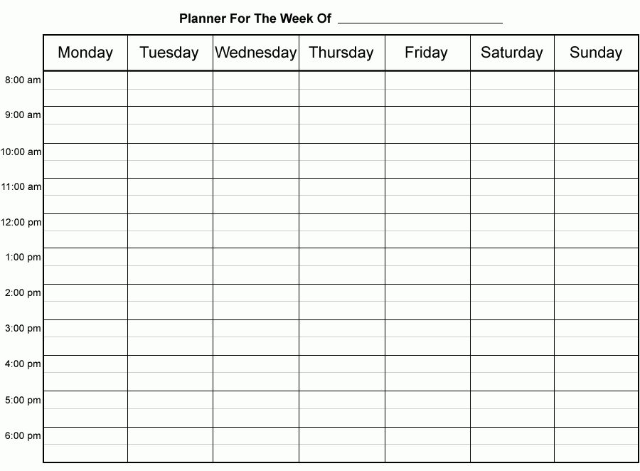7+ weekly time planner printable - Budget Template Letter