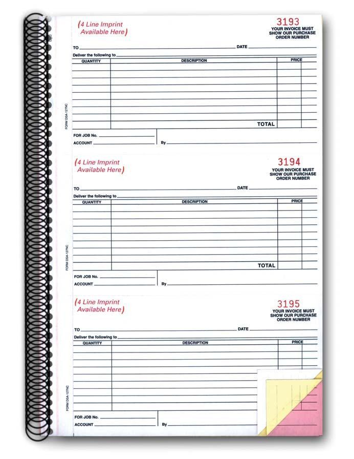 Purchase Order Book (Form #DSA-127-NC)