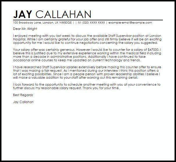 Counter Offer Letter. New Employee Welcome Letter   Sop Proposal ...