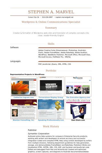 publisher resume samples visualcv resume samples database - Microsoft Publisher Resume Templates