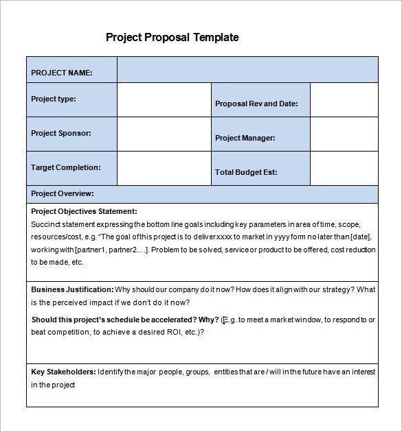 Project Proposal Template – 13+ Free Sample, Example, Format ...