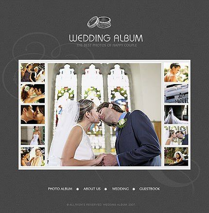 Modern Wedding Album Design on Pickleberrypop Album Templates ...
