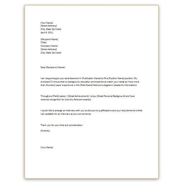 Pleasurable Inspiration Simple Cover Letter Samples 2 Letter ...
