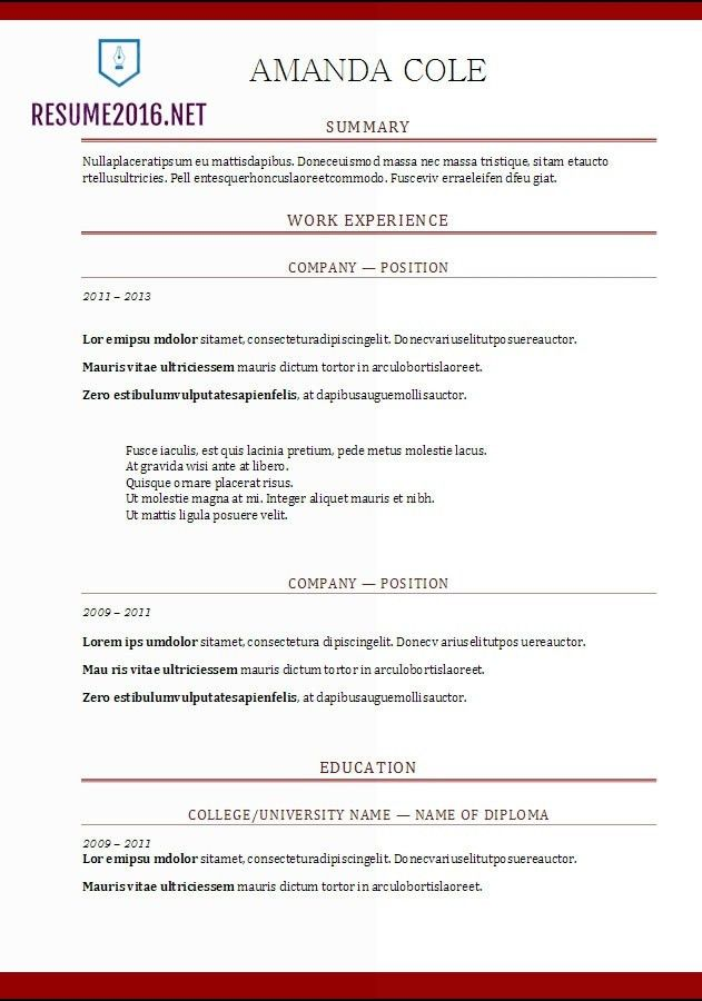 preferred resume format job search skills format of resume