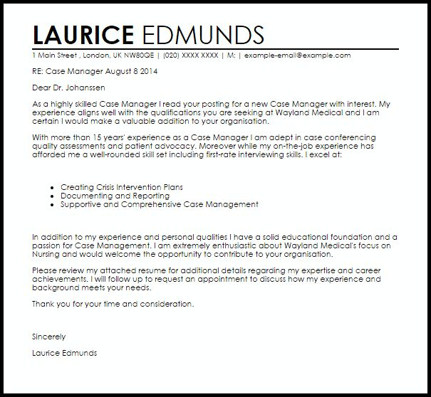 Surprising Design Ideas Case Manager Cover Letter 13 It Letters ...