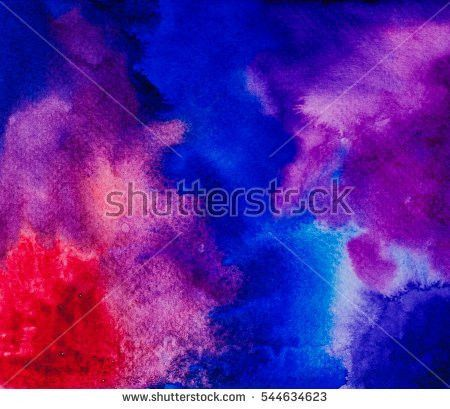 Abstract Space Hand Painted Watercolor Background Stock Photo ...