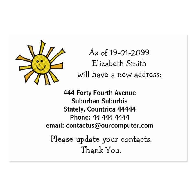 Out Change of Address Notification Cards Business Card Templates