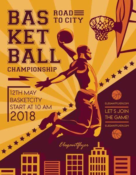 Basketball Match Free Sport Flyer Template - Download Free Flyer