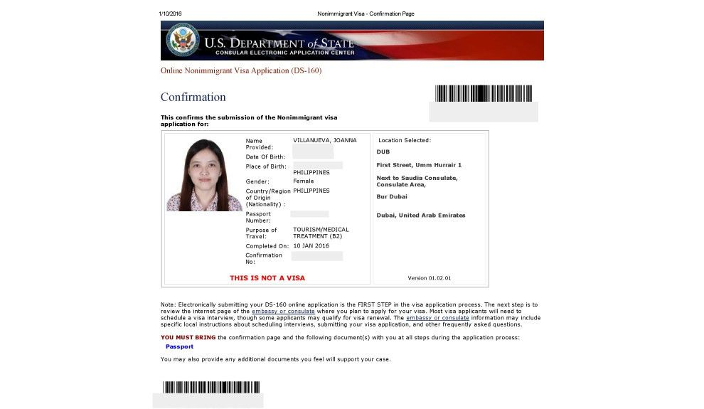 How to Apply a US Visa for Filipinos from Dubai? - The Moment ...