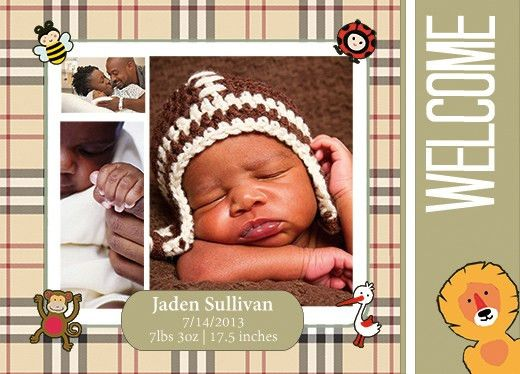 Free Birth Announcements Templates for Photoshop & Illustrator ...