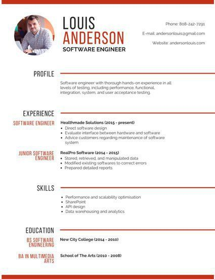 Resume template without objective