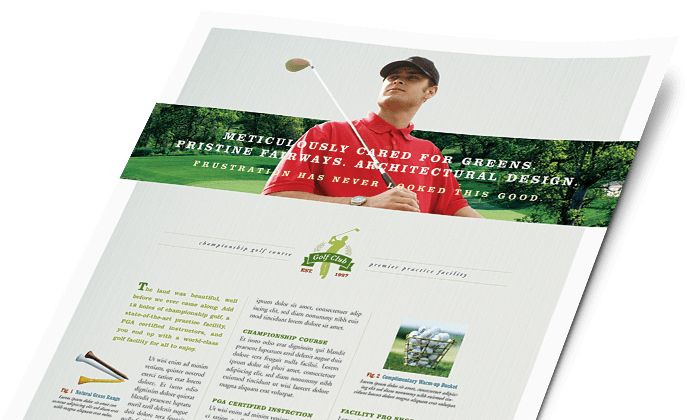 Sports & Fitness Marketing - Brochures, Flyers, Postcards