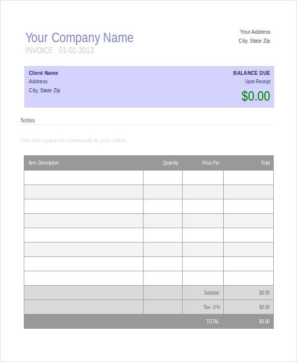 Invoice Template - 10+ Free Word, PDF Document Downloads | Free ...