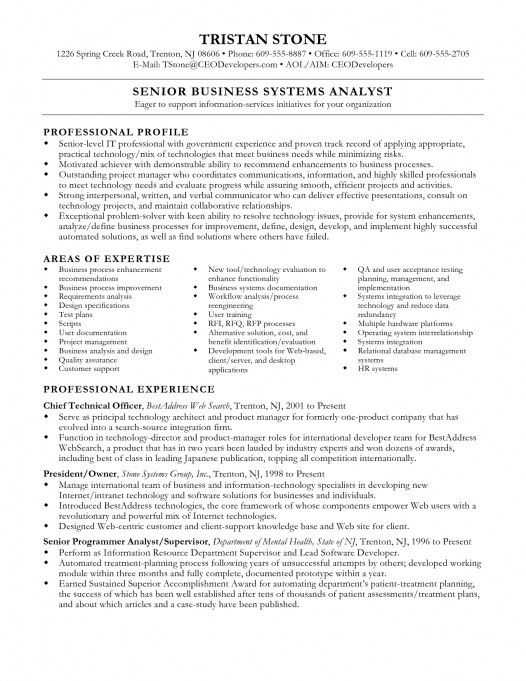 Business System Analyst Resume Professional Systems Inside Sample ...