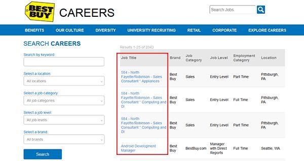 Best Buy Job Application - Apply Online