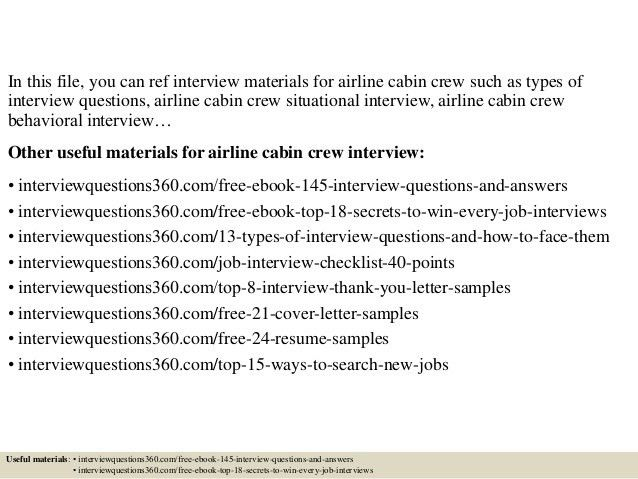 sample cover letter for cabin crew
