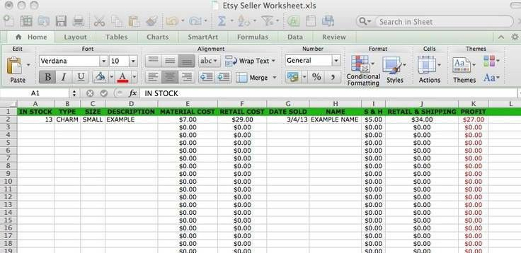 Small Business Excel Spreadsheet Accounting Small Business ...