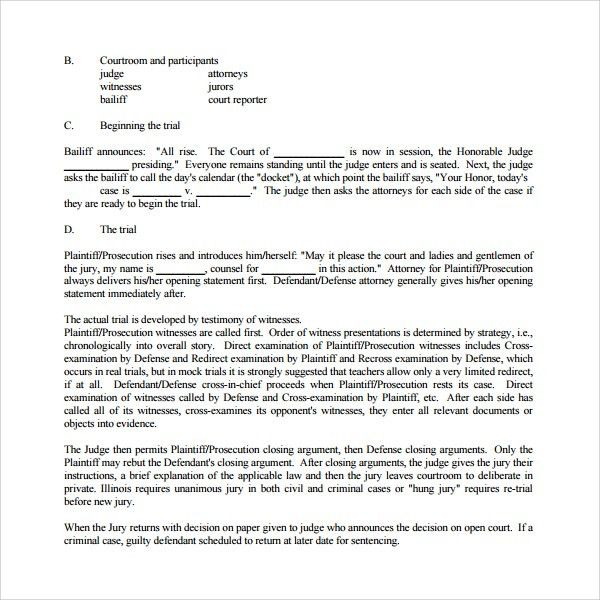 Sample Opening Statement Template - 9+ Free Documents in PDF, Word