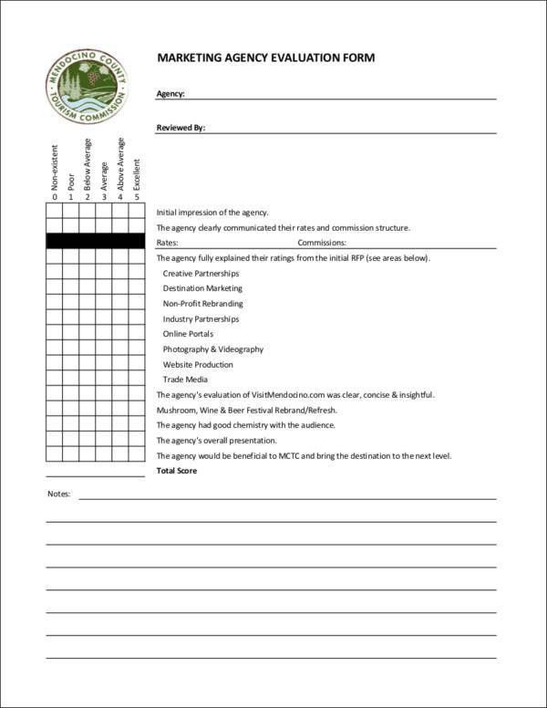 8+ Marketing Evaluation Form: Samples and Templates