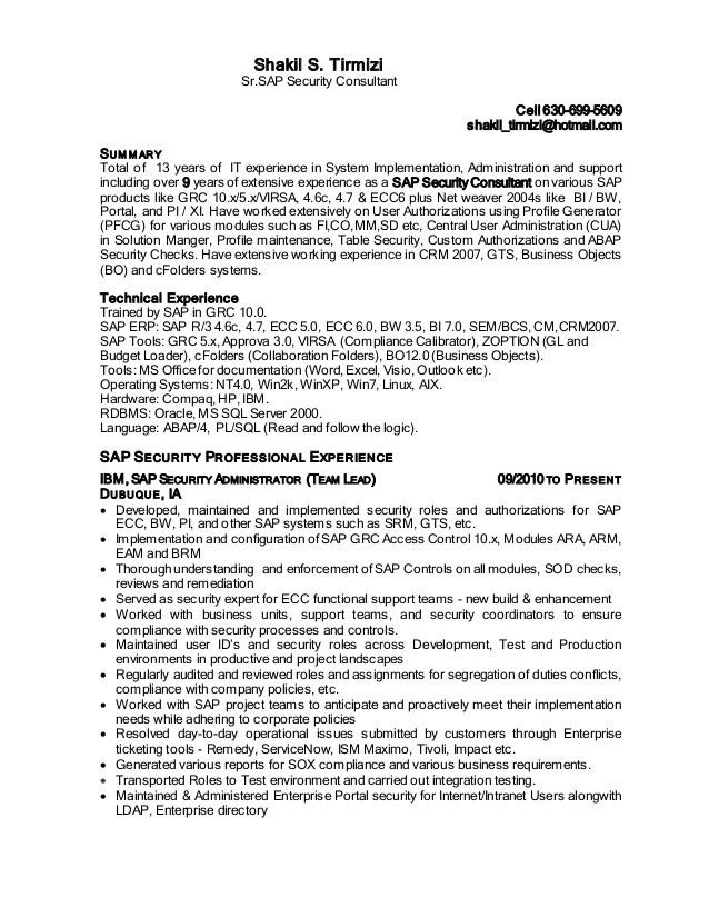 sap security analyst resume cyber security resume cyber security