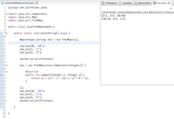 Java TreeMap - TreeMap in Java - JournalDev