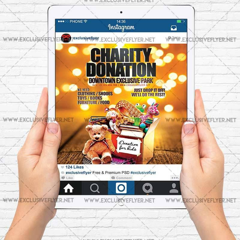 Charity Donation – Premium A5 Flyer Template | ExclsiveFlyer ...