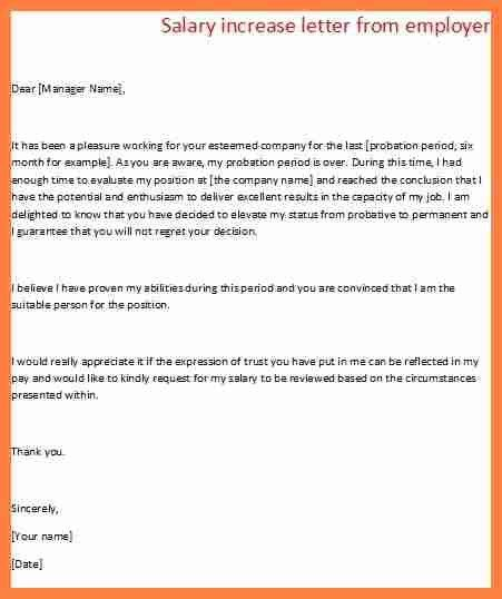 Pay Raise Letter Template - Template Examples