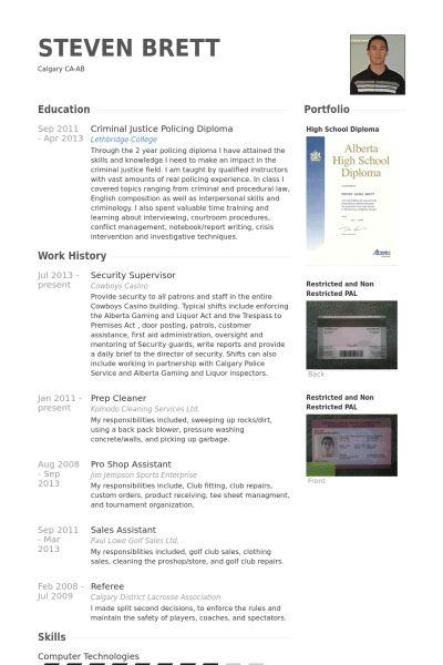 Security Supervisor Resume samples - VisualCV resume samples database