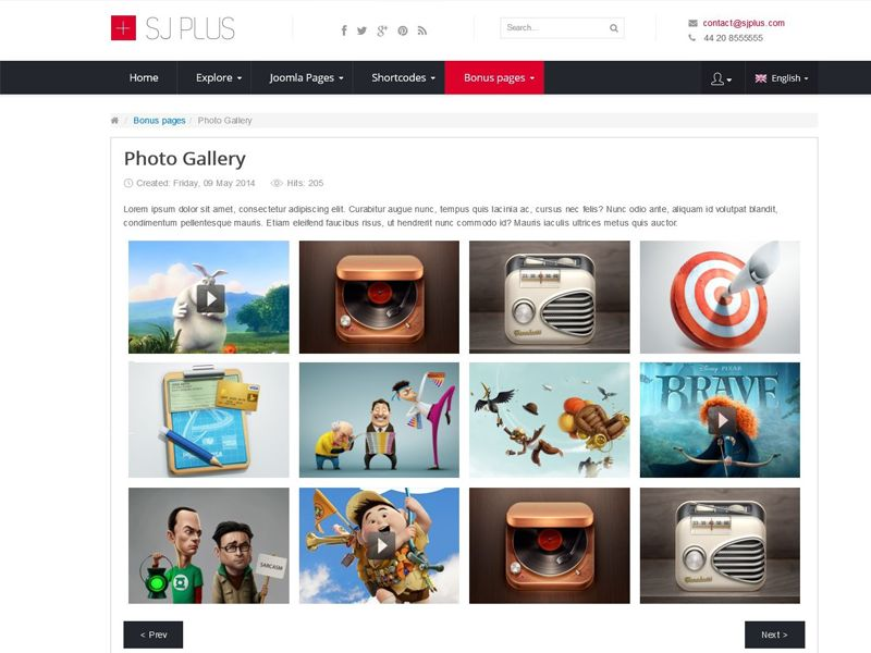 5+ Best FREE Joomla templates for Photograhy / Gallery in October 2015