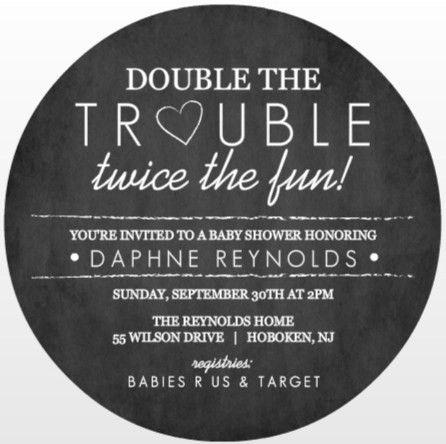Twins Baby Shower Invitation Wording Ideas From PurpleTrail