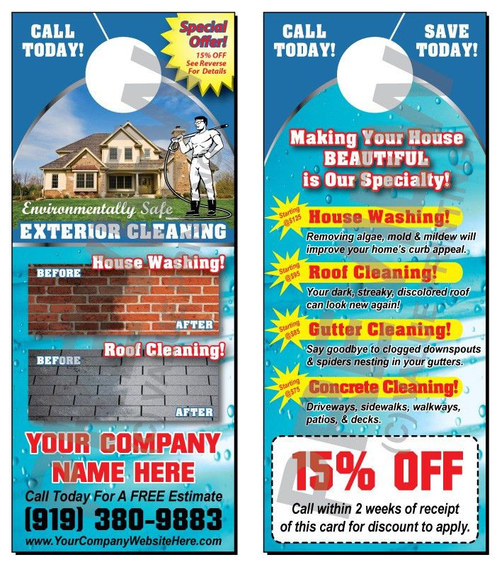 Pressure Washing Door Hangers for the Residential Market